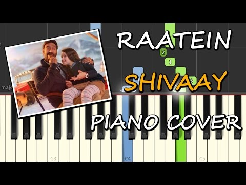 Piano piano chords instrumental : Download Raatein Cover Song Piano Shivaay Chords+Tutorial+Lesson+ ...