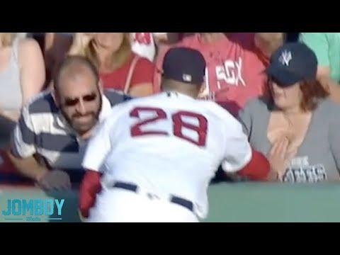 J .D.  Martinez touches a fans boobs, a breakdown