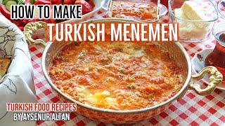 How To Make Menemen (Turkish Egg Dish With Cheese And Tomato Sauce)
