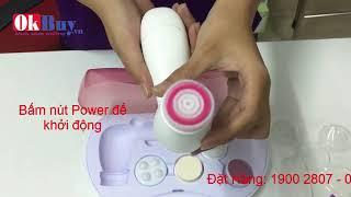 Cách sử dụng máy massage rửa mặt 6 trong 1 CNAIER AE-805A