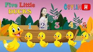 Ceylin-H | Beş Küçük Ördek - Five Little Ducks Nursery Rhymes Videos For Babies & Kids Simple Songs
