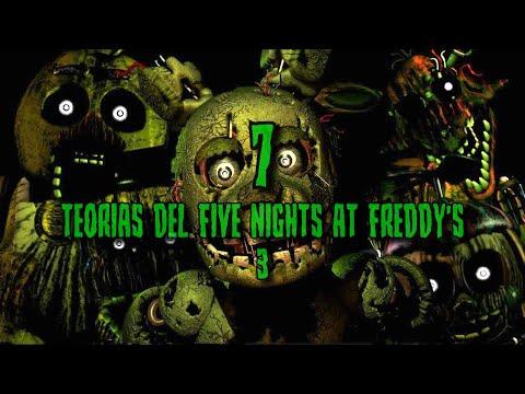 7 TEORIAS de FIVE NIGHTS AT FREDDY'S 3 (fnaf 3)