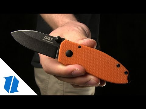 "CRKT Burnley Squid Frame Lock Knife Orange G-10 (2.25"" Black Stonewash) 2490SWK"