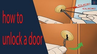 how to unlock a door without a key with a bobby pin