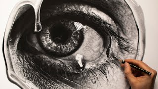 Realistic Eye Pencil Drawing - Step By Step