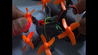 Brushed hexacopter | Maiden test flight | FPV | 3D printed frame