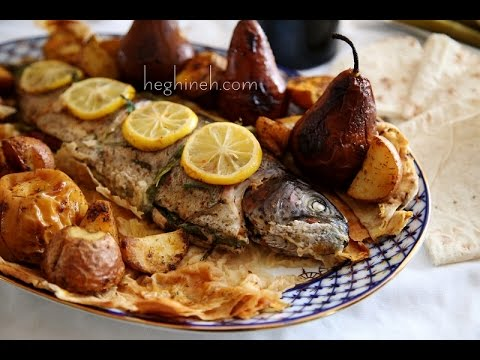 Armenian Easter Dish – Lavash Baked Fish Recipe – Heghineh Cooking Show