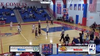 Oregon Davis 13-12 vs Marquette Catholic (23-2) - Girls Basketball Regionals @ Caston