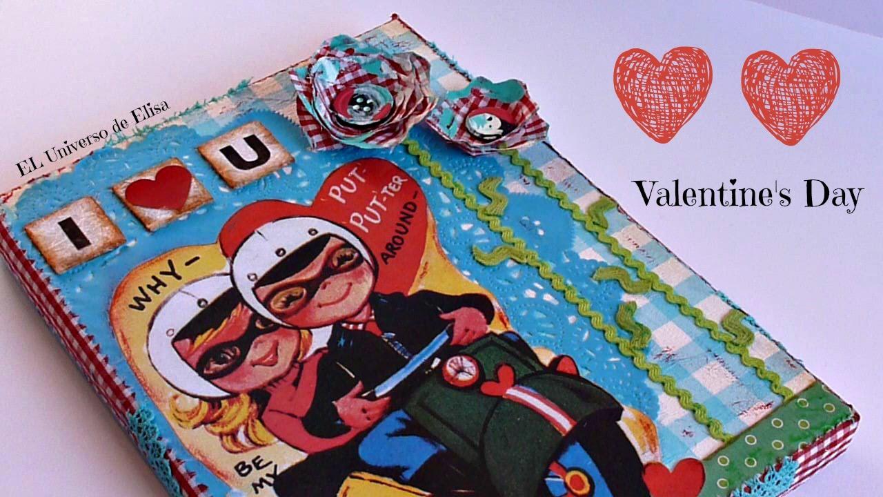 Manualidades para San Valentín, Cómo hacer un Collage, Be my Valentine