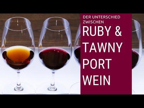Was ist der Unterschied zwischen Ruby & Tawny Portwein?