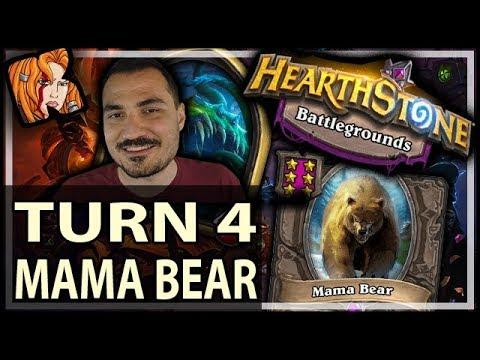 TURN 4 MAMA BEAR?! - Hearthstone Battlegrounds