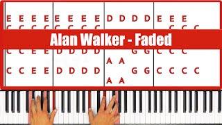 Faded Alan Walker Piano Tutorial   EASY