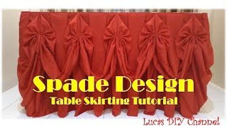 How To Do A Spade Design Table Skirting