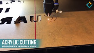 Acrylic Cutting with Laser cutting and engraving machine