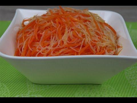 Салат с фунчозой и морковью