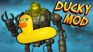 HUGE!! Rubber Ducky Floaty on ORIGINS GIANT ROBOTS - BO3 Zombies
