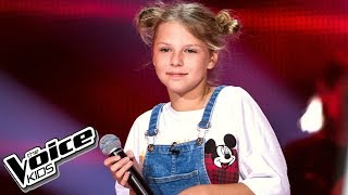 "Oliwia Walicka - ""Let Me Love You"" - Przesłuchania w ciemno - The Voice Kids 2 Poland"