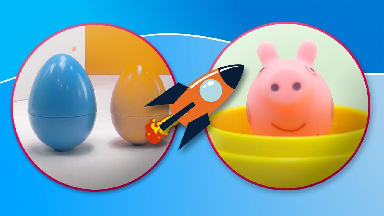 Peppa Pig se divierte jugando con los huevos sorpresa