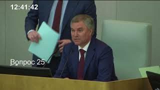 Пленарное заседание Государственной Думы 10.05.2018 (12.30 - 15.04) ( Госдума )