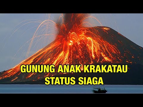 Hari Ini Gunung Anak Krakatau Status Siaga, Suara Dentuman Terdengar Beberapa Kali