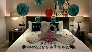 Anniversary Room Decoration Ideas At Hotel | Home | Romantic | Love |