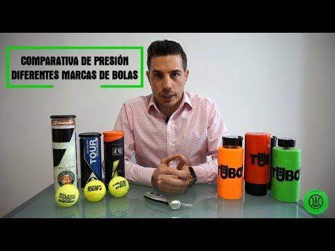 COMPARATIVA DE PRESIÓN DE DIFERENTES MARCAS DE PELOTAS DE TENIS Y PADEL