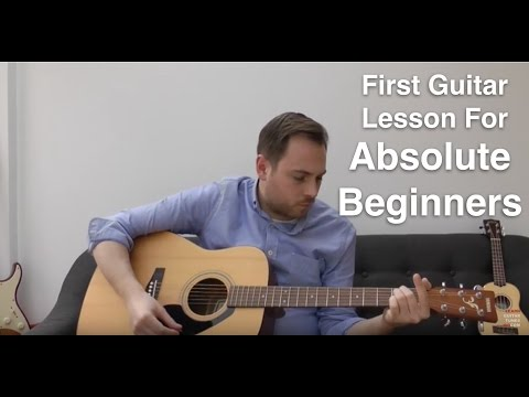 First Guitar Lesson For Beginners - How To Play The Guitar - Beginner Guitar Lesson