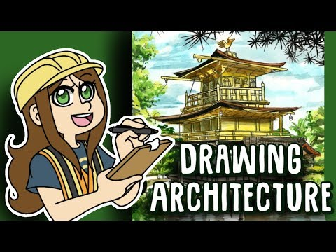 Drawing Architecture -  Kinkaku-ji (Golden Pavilion)