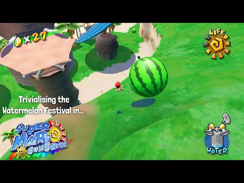 How to Trivialise the Watermelon Festival in Super Mario Sunshine