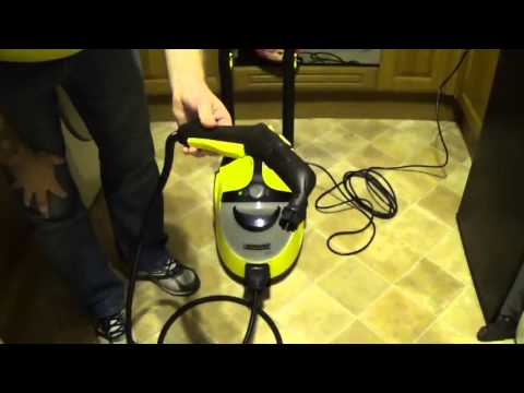, title : 'Karcher SC5 Steam Cleaner, set up & demo video.'