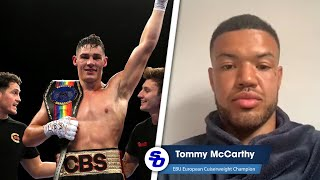TOMMY McCARTHY: 'I HAVE MORE TO LOSE THAN CHRIS BILLAM-SMITH!'