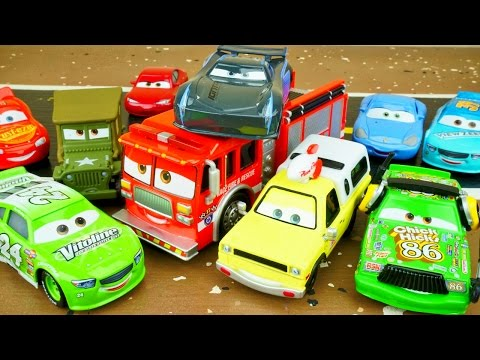 NEW FUNNY CARS 3 DIECAST TOYS DELUXE TWO PACK JACKSON STORM TINY LUGSWORTH FIRETRUCK