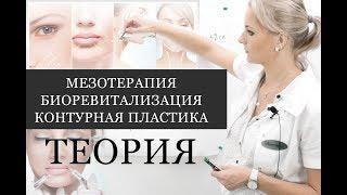 Мезотерапия, биоревитализация, контурная пластика - ТЕОРИЯ (видео урок)