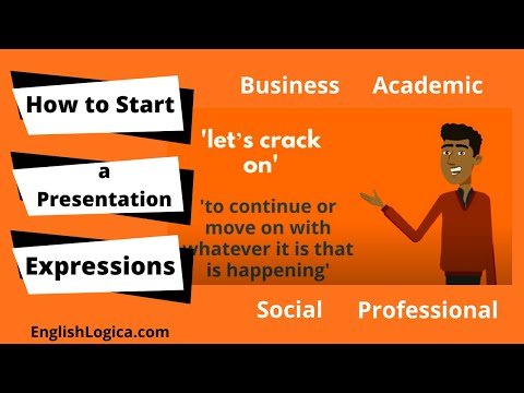 Starting A Presentation - Vocabulary