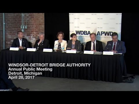 WDBA 2015-2016 Annual Public Meeting - Detroit