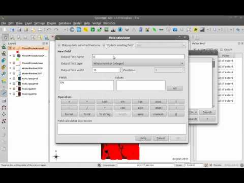 Using QGIS - Converting Raster to Polygons and Adding a new