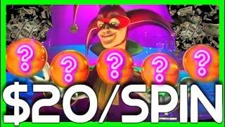 ***MASSIVE WIN*** $20/SPIN on Carnival Of Mystery Masquerade SLOT MACHINE BONUSES W/ SDGuy1234