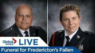 LIVE: Funeral for Fredericton's fallen officers