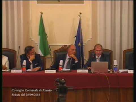 CONSIGLIO COMUNALE DI ALASSIO VENERDI' 28 SETTEMBRE 2018