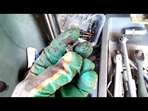 SantaFe снятие и разборка рулевой рейки