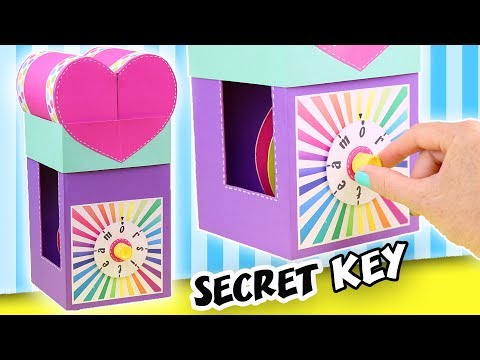 MAKE A GIFT WITH SECRET KEY – THE COMBINATION LOCK | aPasos Crafts DIY