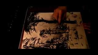 Speed Drawing - Trees After Snowfall (Music by Abigor)