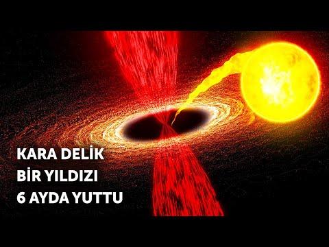 Kara delik bir yıldızı 6 ayda yuttu