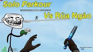 Thử Thách Solo Parkour vs RÙA NGÁO: bằng tốc độ chuột 100%