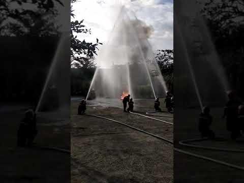 Video 1: Thực tập phương án chữa cháy cho CBGVNV và học sinh
