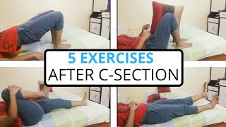 Postpartum Workout :5 Exercises after C-Section