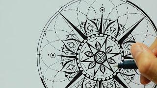 Mandala | Heart Compass | Tattoo Design :: Ulrike Hirsch