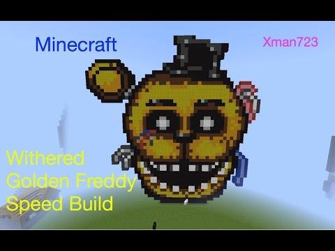 Minecraft Speed Build Withered Foxy FNAF 2 [REUPLOAD] - смотреть