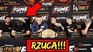 ADRIAN POLAK RZUCA W MAGICALA!, DRUGA Konferencja FAME MMA!!!