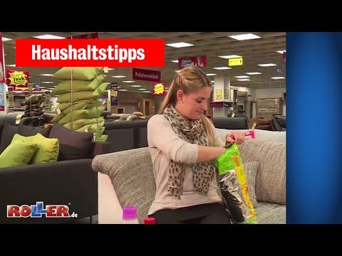 Haushaltstipps: Flecken aus Polstermöbeln entfernen